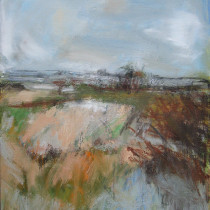 'Autumn-Fields',-oil-and-charcoal-on-canvas,-51cm-x-42cm