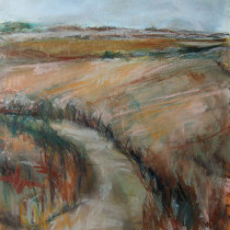 'Bracken-Path',-oil-on-canvas,-73-x-66cm-(Paintings-Landscape)
