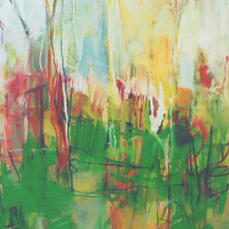 'Spring-I',-oil-on-canvas,-135-x-115cm-(Paintings-Landscape)