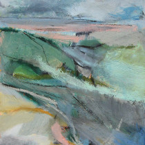 'Inlet',-Janine-Baldwin,-oil-&-charcoal-on-panel,-51x35cm