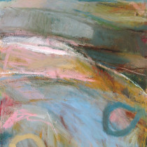 'Turquoise-Sea',-Janine-Baldwin,-oil-on-canvas,-67-x-48cm